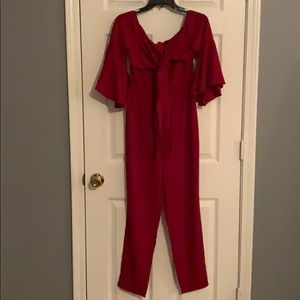 NWT Nasty Gal Red Jumpsuit